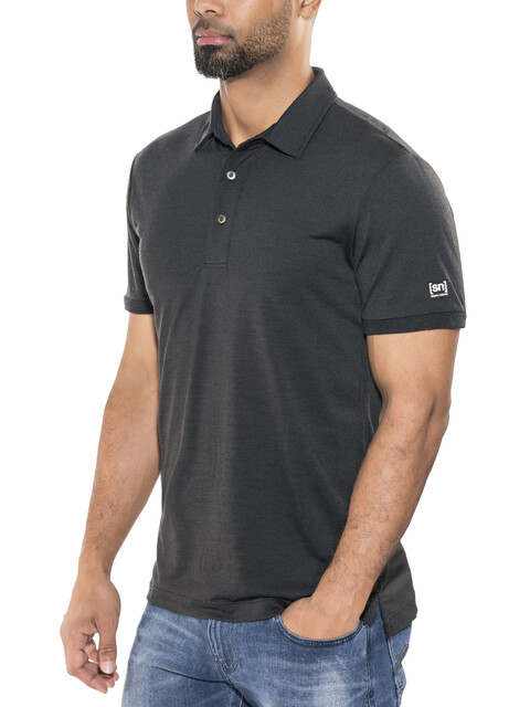 super.natural Essential Poloshirt Men Caviar
